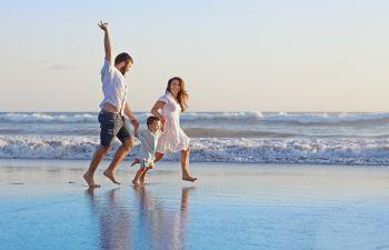 Couple With Energy On Beach